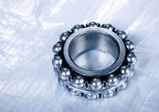Ball bearing and diagram Stock Photo