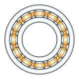 Ball bearing illustration. Illustration of the ball bearing Royalty Free Stock Photo