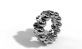 Ball bearing Interior on the white, 3d render Stock Photography