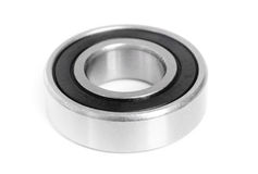Ball bearing isolated on white Stock Photos