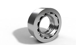 Ball bearing isolated on the white, 3d render Royalty Free Stock Photography