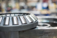 The ball bearing on the mechanism. In the production hall Royalty Free Stock Photo