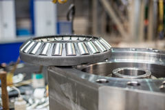 The ball bearing on the mechanism. In the production hall Stock Photography