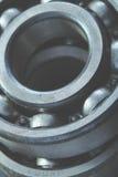 Ball bearing metal texture macro Royalty Free Stock Photos
