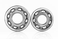 Ball bearing. On over white, and reflections Royalty Free Stock Image