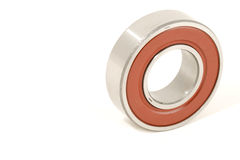Ball Bearing Red and Silver White Background Royalty Free Stock Photos