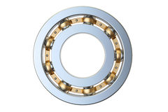 Ball bearing side view, 3D rendering Stock Images