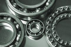 Ball-bearing sizes Stock Image