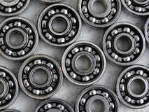 Ball bearing. Some metal ball bearings for skaters Stock Photo