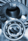 Ball bearing of titanium in close-ups Royalty Free Stock Photos