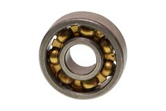 Ball bearing on a white background. Ball bearing isolated on a white background Stock Photo