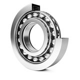 Ball bearing. On white background. 3d rendering image Royalty Free Stock Photo