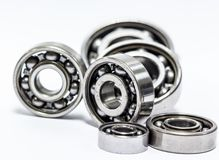 Group Ball bearing. The ball bearing  on white background Royalty Free Stock Photo