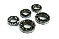 Ball bearing on white background Stock Photo