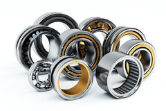Ball bearings. 3d illustration on white background Royalty Free Stock Photos