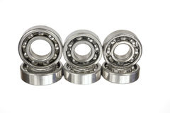 Ball bearings. Ball bearings on a white background royalty free stock photo