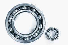 Ball bearings against whites Royalty Free Stock Photos