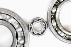Ball bearings against whites Stock Photos
