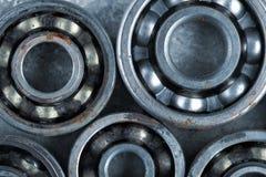 Ball bearings background. Series of ball bearings background Stock Photos