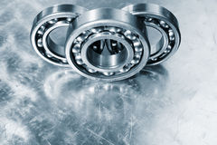 Ball bearings in close ups Royalty Free Stock Image