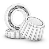 Ball bearings in a cut Royalty Free Stock Photo