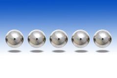 Ball Bearings Floating royalty free stock photo