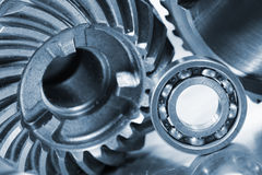 Ball bearings and gears Royalty Free Stock Images