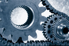 Ball-bearings, gears in close-ups Royalty Free Stock Image