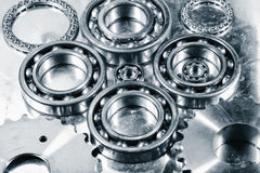 Ball-bearings, gears and cogs Royalty Free Stock Photos