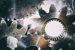 Ball-bearings, gears and cogs Stock Image