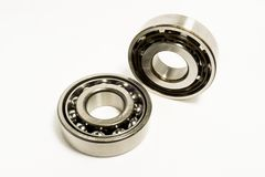 Ball Bearings. Isolated on white background stock photography