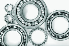 Ball bearings and pinion wheels Royalty Free Stock Photography