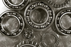 Ball bearings and pinions Stock Images