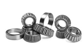 Ball bearings on a pure white background Royalty Free Stock Photography