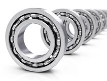 Ball bearings. On a white background. 3d illustration Royalty Free Stock Photos