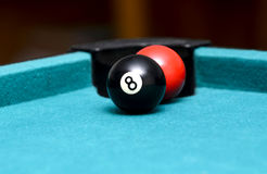 Ball behind the eight ball Royalty Free Stock Images