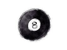 8 ball billard ball Stock Photography