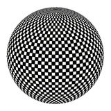 Ball in black and white Stock Images