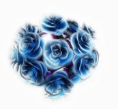 Ball of blue roses Royalty Free Stock Photo