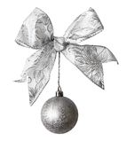 Ball with bow. New year ball with bow Stock Images