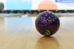 Ball at bowling alley Royalty Free Stock Photo