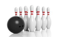 ball bowling illustration pins vector Στοκ εικόνα με δικαίωμα ελεύθερης χρήσης