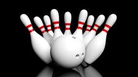 ball bowling illustration pins vector Στοκ Φωτογραφία