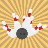 ball bowling illustration pins vector Στοκ φωτογραφίες με δικαίωμα ελεύθερης χρήσης