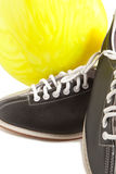 Ball and bowling shoes Stock Photo