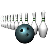 Ball and bowling size Stock Image