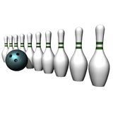 Ball and bowling size Royalty Free Stock Photos