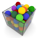 Ball into the box Royalty Free Stock Images