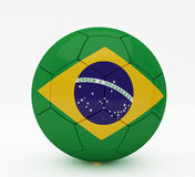 Ball of Brazil World Cup. On white Stock Photos