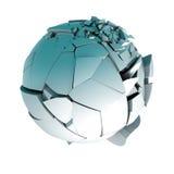 Ball broken concept Royalty Free Stock Photo